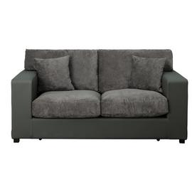 Argos Home Hartley 2 Seater Fabric Sofa Bed - Charcoal