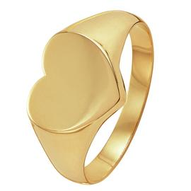 Revere 9ct Gold Heart Shaped Signet Ring
