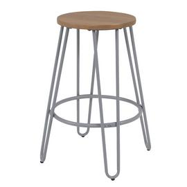 Argos Home Klark Hairpin Wooden Bar Stool - Grey