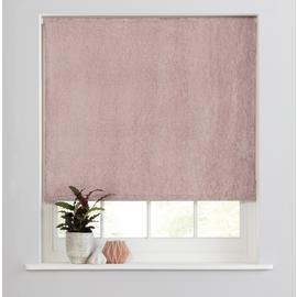 Casa Crushed Velvet Blackout Roller Blind - Blush