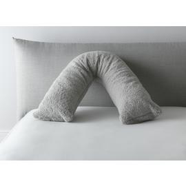 Argos Home Fleecy V Shape Pillow - Grey