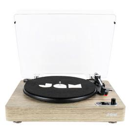 JAM Vinyl Bluetooth Turntable Record Player - Light Wood