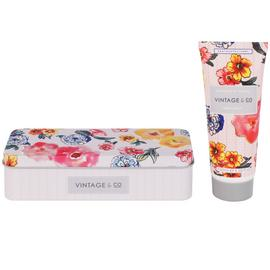 Vintage & Co Pattern & Petals Hand Cream Tin - 100ml