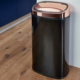 Tower 58L Sensor Bin - Rose Gold & Black