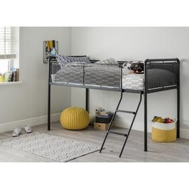 Argos Home Maddox Black Mid Sleeper Bed & Kids Mattress