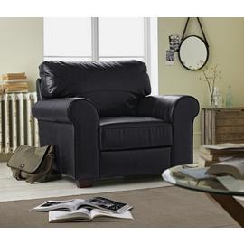 Argos Home Salisbury Leather Armchair - Black