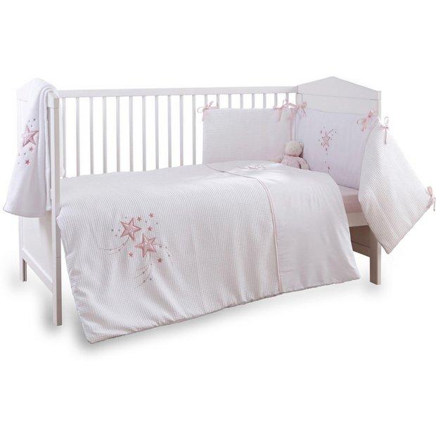 Buy Clair De Lune Stardust 3 Piece Cot Cot Bed Set Pink