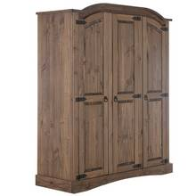 Collection Puerto Rico 3 Door Wardrobe - Dark Pine