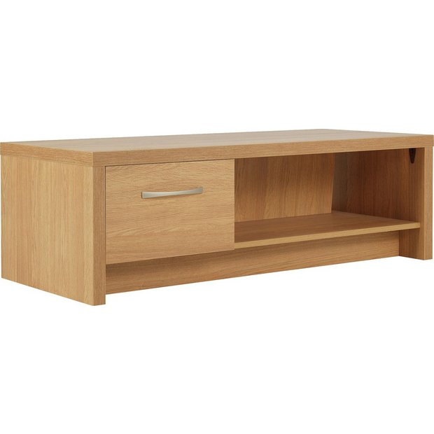 Buy Collection Venice 1 Drawer Coffee Table Tv Unit Oak