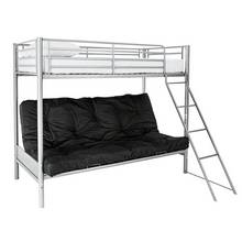 Argos Home Metal Futon Bunk Bed with Kids Mattress - Black