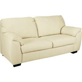 Argos Home Milano Leather 2 Seater and 3 Seater Sofa - Ivory