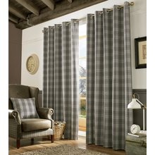 Ashley Wilde Archie Slate Curtains - 117cmx229cm