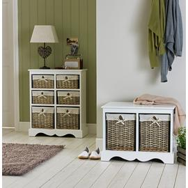 Argos Home New Malvern Hallway Shoe Storage Bench - White