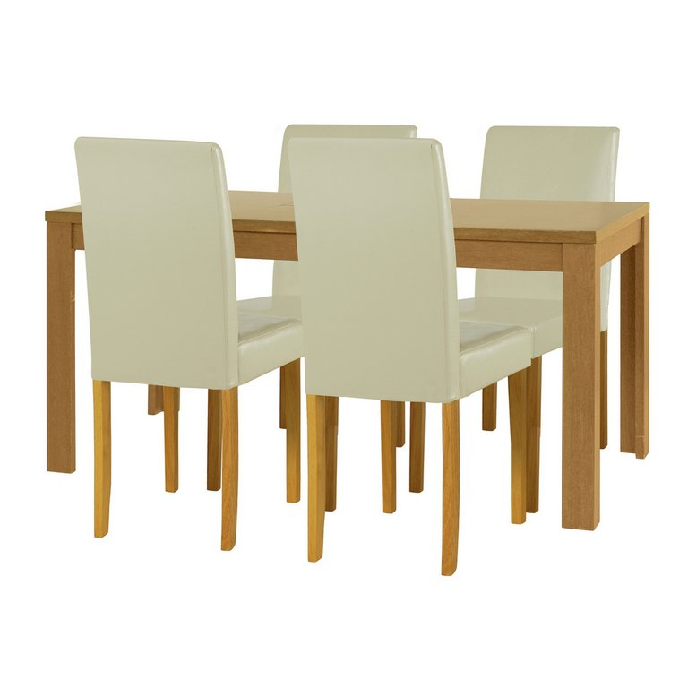 Buy HOME Penley Pentley Oak Ext Dining Table amp 4 Chairs  : 3394799RSETMain768ampw620amph620 from www.argos.co.uk size 620 x 620 jpeg 25kB