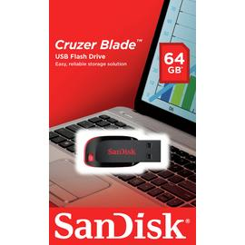 SanDisk Cruzer Blade USB 2.0 Flash Drive - 64GB