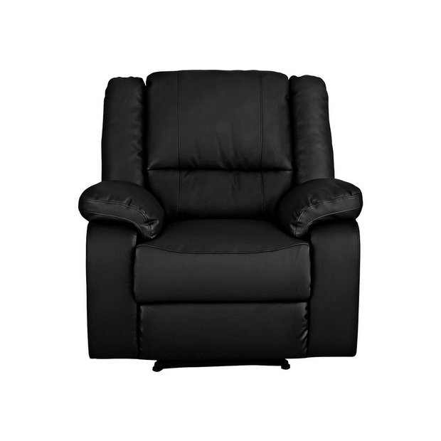 Buy Argos Home Bruno Leather Effect Manual Recliner Chair