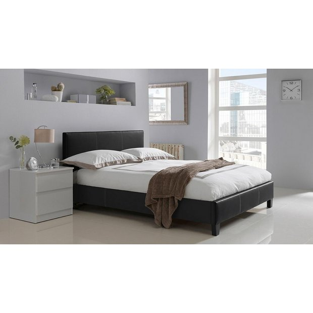 more details on hygena constance small double bed frame black