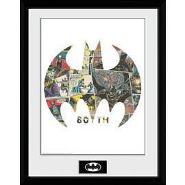 Batman Comic Symbol Framed Print