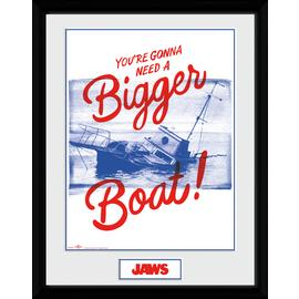 Jaws Bigger Boat Framed Print