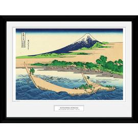 Japanese Art Hokusai Shore of Tago Bay Framed Print