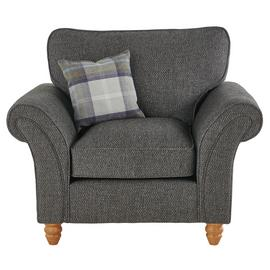Argos Home Edison Fabric Armchair - Charcoal