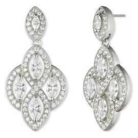 Anne Klein Round Cubic Zirconia Stone Drop Earrings
