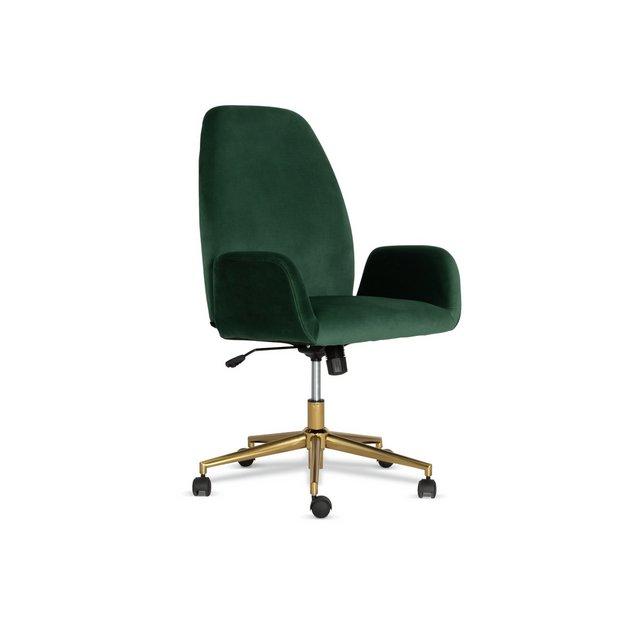 Buy Habitat Clarice Velvet Office Chair Green Office Chairs Argos
