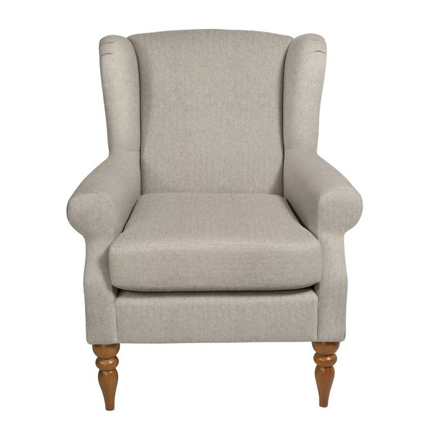 Buy Argos Home Bude Fabric Wingback Chair Cream Armchairs And Chairs Argos