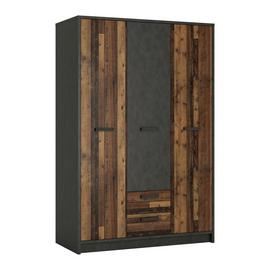 Nubi 3 Door 2 Drawer Wardrobe