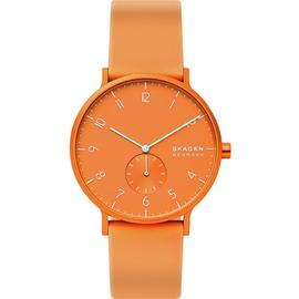 Skagen Kulor Neon Orange Silicone Strap Watch