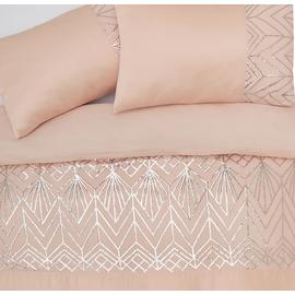 Argos Home Blush Sequin Bedding Set - Double
