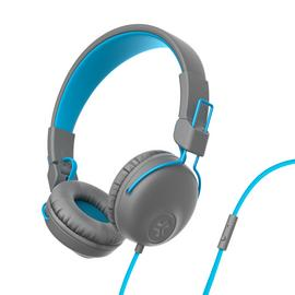JLAB Studio On-Ear Headphones - Blue/ Grey