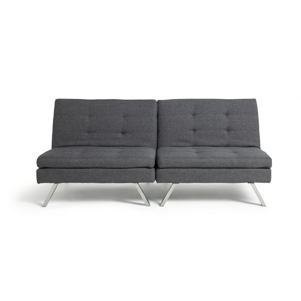 Buy Argos Home Duo 2 Seater Clic Clac Sofa Bed Charcoal Sofa