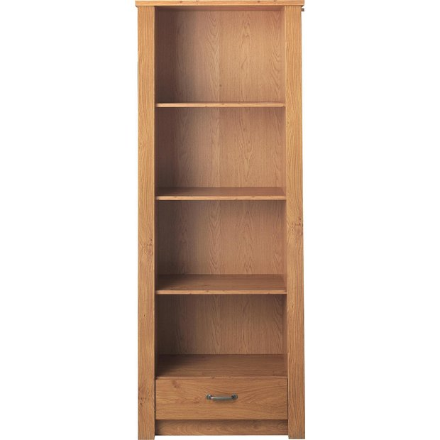 Buy Collection Ohio 3 Shelf 1 Drawer Bookcase Oak Effect At Your Online Shop For