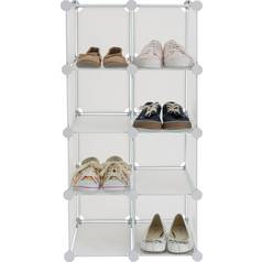 Argos Home 8 Interlocking Shoe Storage Boxes - White