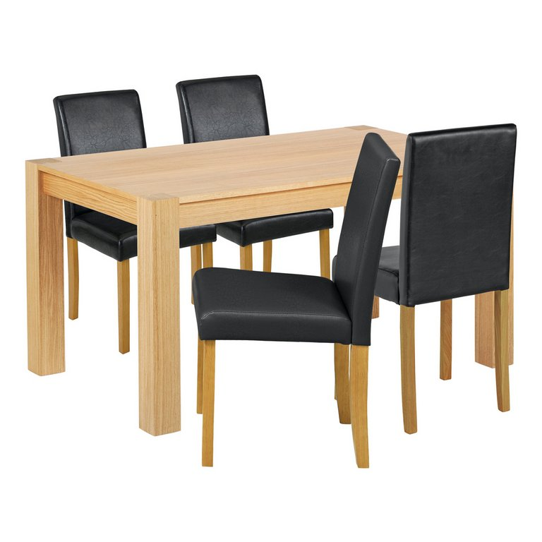 Buy Collection Indiana Solid Oak Table amp 4 Chairs Black  : 3438576RSETMain768ampw620amph620 from www.argos.co.uk size 620 x 620 jpeg 34kB
