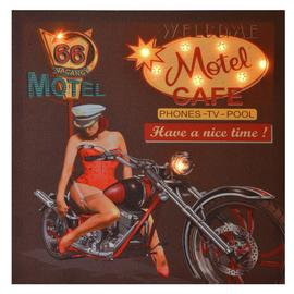 Innova Home LED Canvas Pin Up Girl Motel Canvas