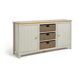 Argos Home Bournemouth 2 Door Wicker Sideboard - Light Grey