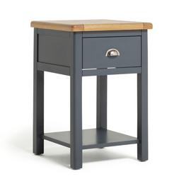 Argos Home Kent 1 Drawer Bedside Table with Shelf - Two Tone