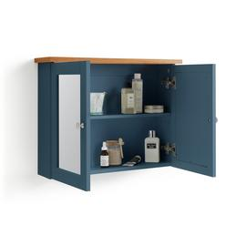 Argos Home Livingston Double Mirrored Wall Cabinet - Blue