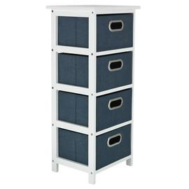 Argos Home 4 Drawer Bathroom Storage Unit - Navy