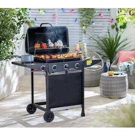 Argos Home 3 Burner Gas BBQ with Side Burner