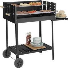 Deluxe Charcoal Rectangle Steel Party BBQ