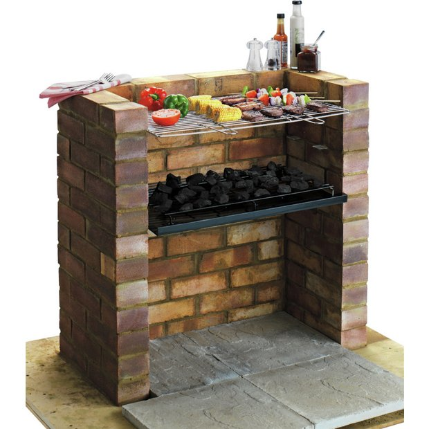 Buy built in charcoal bbq at your online for Barbecue de jardin
