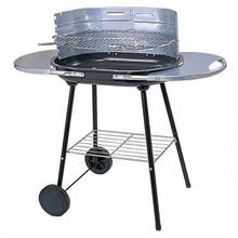 Oval Steel Trolley Charcoal BBQ