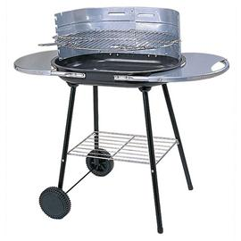 Argos Home Oval Steel Trolley Charcoal BBQ