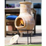 more details on La Hacienda Clay Small Chiminea.