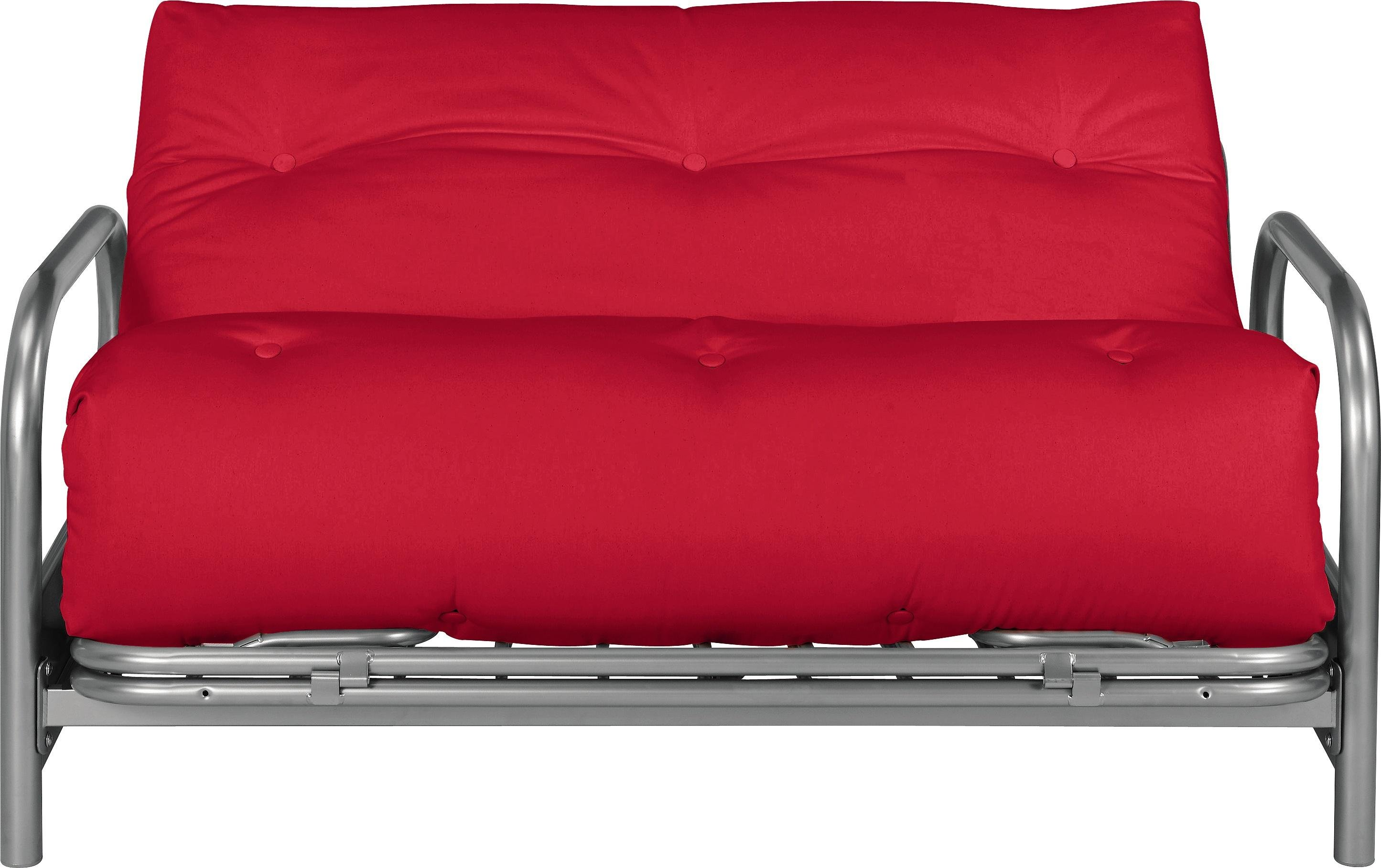 home mexico 2 seater futon sofa bed red