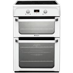 Hotpoint Ultima HUI612 P 60cm Double Electric Cooker - White