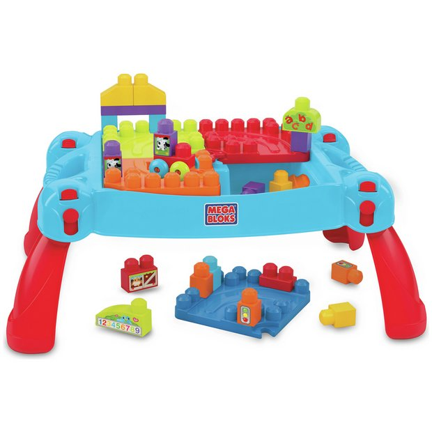 Buy Mega Bloks First Builders Build \'n\' Learn Table | Construction ...